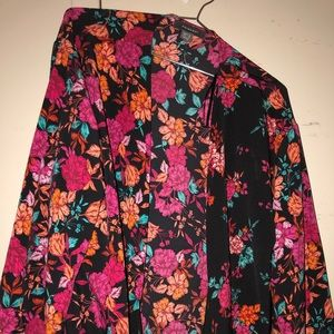 Primark Flower Print Wrap Top